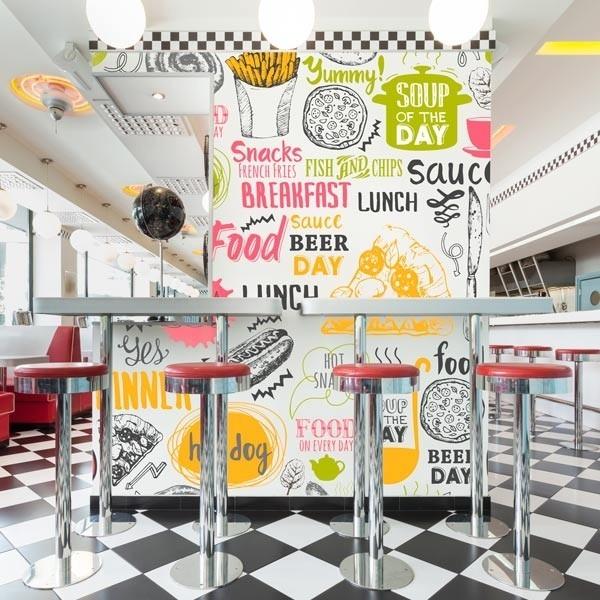 Fotomural fast food