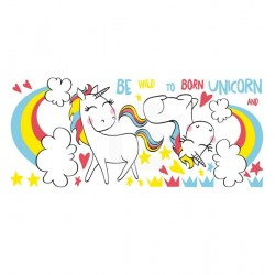 Adhesivo decorativo unicornios 2