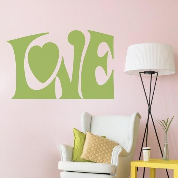 Adhesivo letras love 1