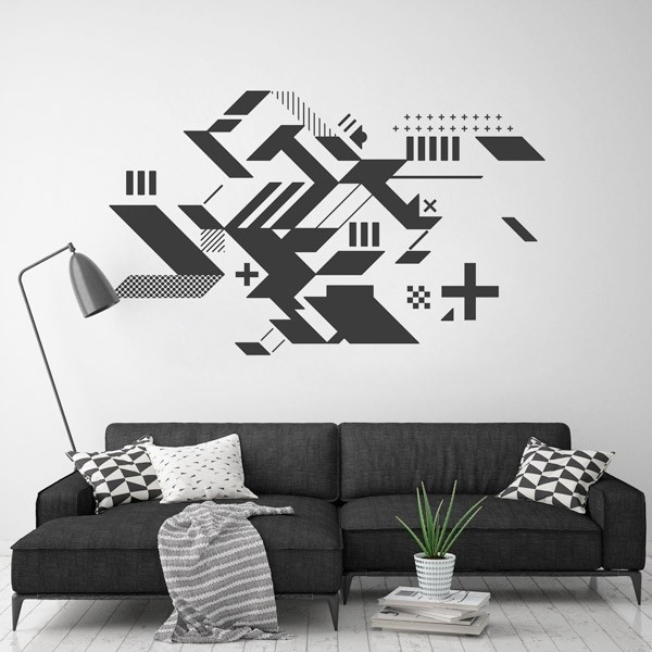 Pegatina formas abstractas