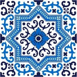 Vinilo de azulejo azul 1