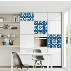 Adhesivo de azulejo azul 2