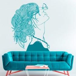 Vinilo ilustración mujer 1