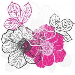 Vinilo para cómodas flores 21