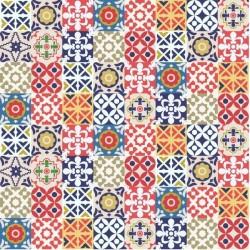 Vinilo adhesivo azulejo multicolor