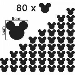 Adhesivo siluetas Mickey