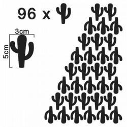 Decorativo siluetas de cactus