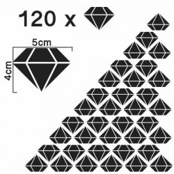 Vinilo siluetas de diamantes