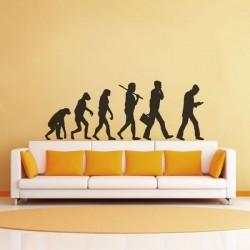 Pegatina evolución del hombre