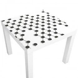 Pegatina mesa ikea fondo abstracto