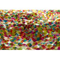 Vinilo mesa ikea triangulos 3D