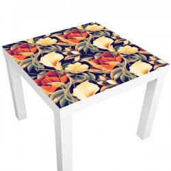 Pegatina mesa ikea flores...