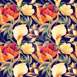 Pegatina mesa ikea flores tropicales