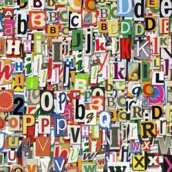 Vinilo adhesivo mix de letras