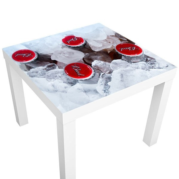 Vinilo mesa Ikea cervezas en hielo