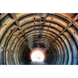Pegatina bunker abandonado