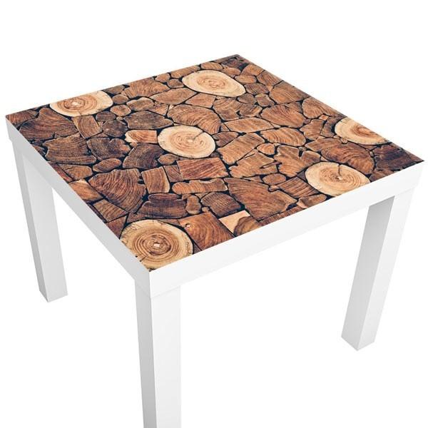 Vinilo adhesivo troncos de madera vinilos para mesas - Mesas de troncos de madera ...