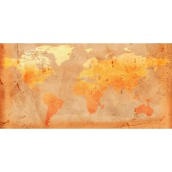 Vinilo decorativo mapa vintage