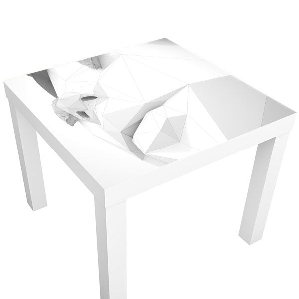 vinilo decorativo rostro 3d vinilos para mesas