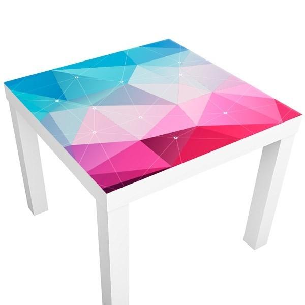 Vinilo formas geom tricas 3d vinilos para mesas for Zapateros decorativos