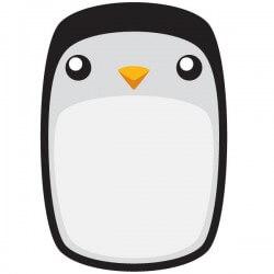 Vinilo de pizarra pingüino