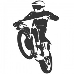 Adhesivo de pared motocross