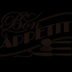 Vinilo de cocina bon appétit