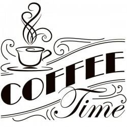 Vinilo de frases de cocina coffee time