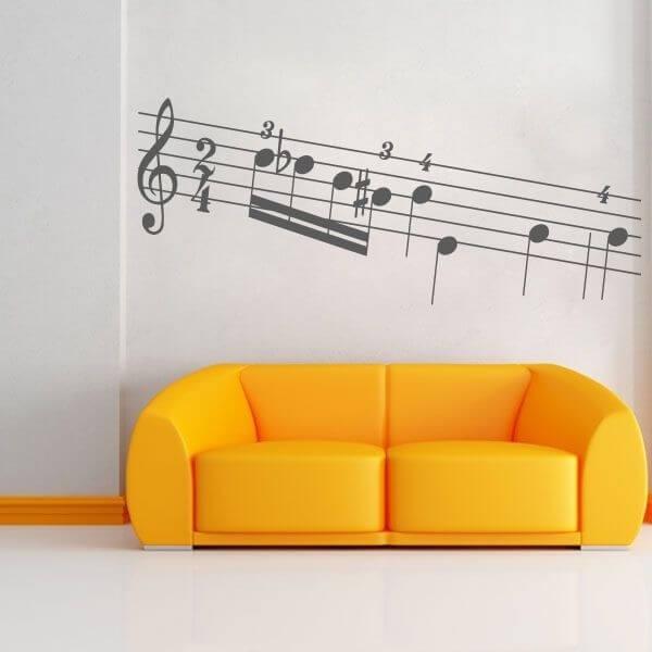 Vinilo decorativo pautas musicales