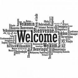 Vinilo de frases welcome