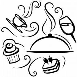 Vinilo de cocina comidas y bebidas
