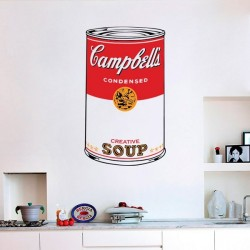 Adhesivo pop art Campbell s Soup