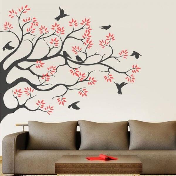 Vinilo árbol y pájaros