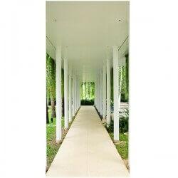 Vinilo decorativo pasillo verde