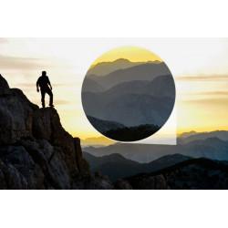 Mural Alpinista en la montaña