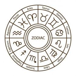 Vinilo círculo signos del zodiaco