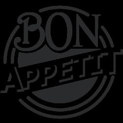 Vinilo círculo bon appétit