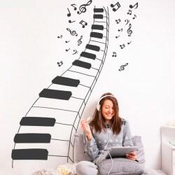 Adhesivo música del piano