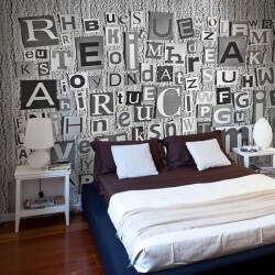 Mural de pared letras