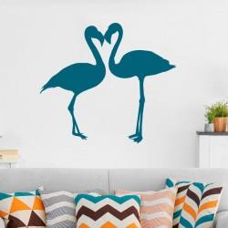 Adhesivo flamingos apasionados