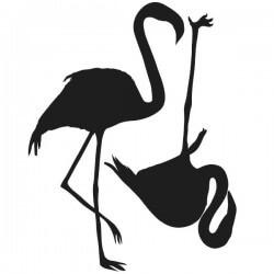 Vinilo de aves flamingos
