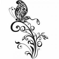 Vinilo mariposa ornamental