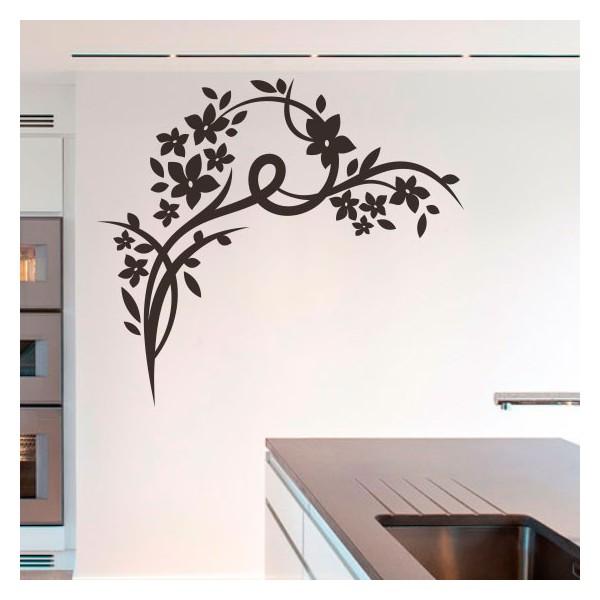 Vinilo de pared flores ornamentales - Vinilo de pared decorativos ...
