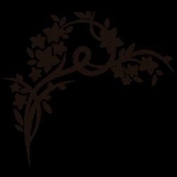 Vinilo de pared flores ornamentales