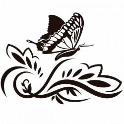 Vinilo mariposa en la primavera