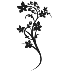 Vinilo decorativo flor de almendro