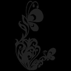 Adhesivo de mariposas en la flor
