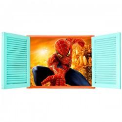 Ventana hombre araña