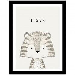 Cuadro adhesivo de tigre