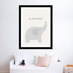 Cuadro adhesivo de elefante